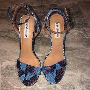 NEW Multicolor Steve Madden Snakeskin sandal